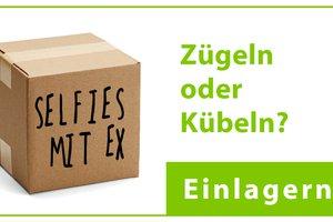 Zügeln oder Kübel mit Kiste