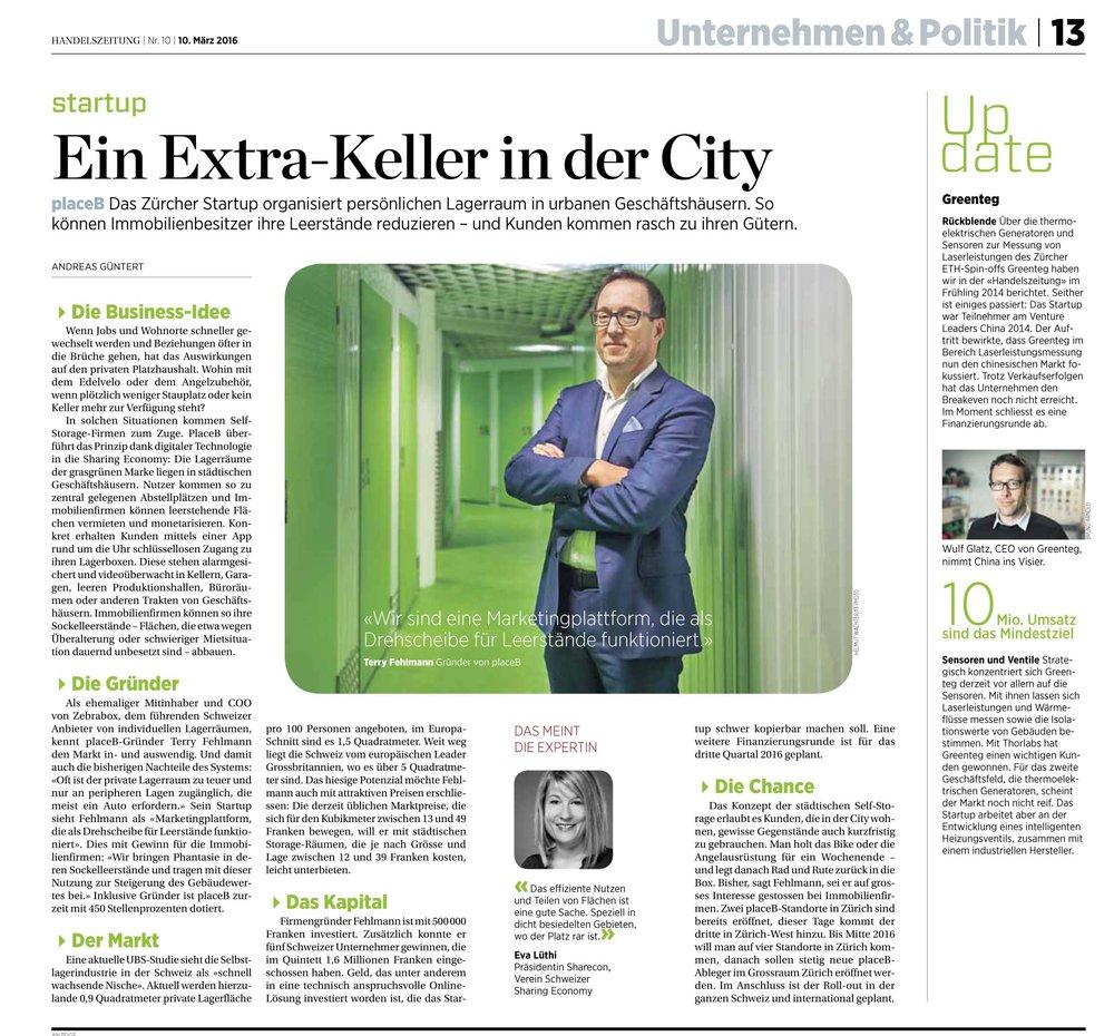 Artikel Handelszeitung Mai 2017 Ein Extra-Keller in der City