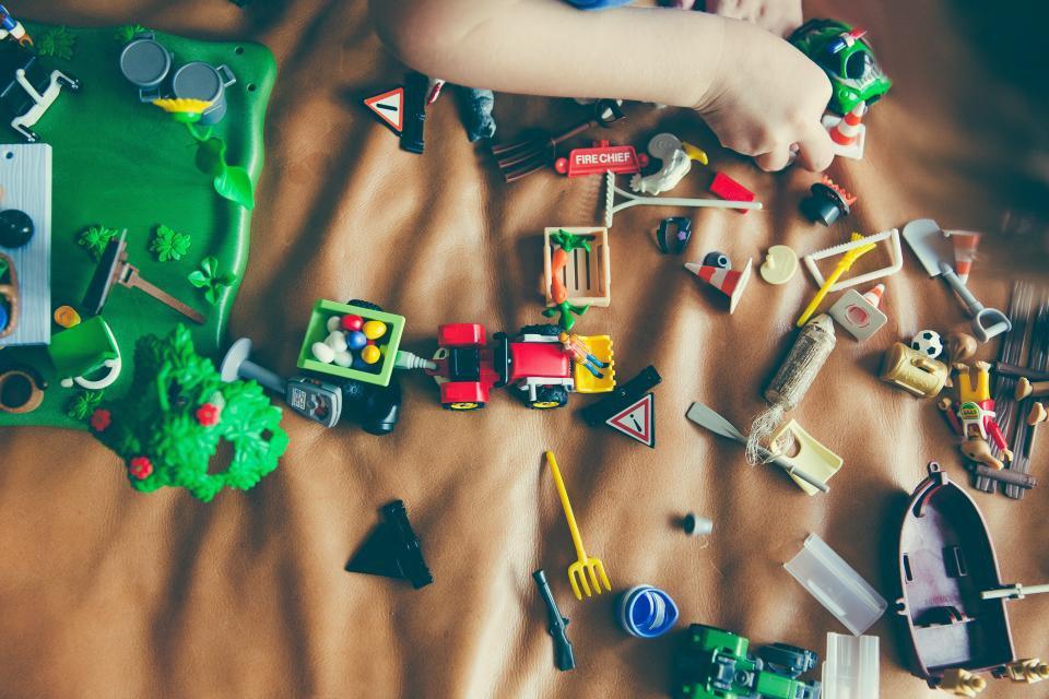 Spielsachen einlagern